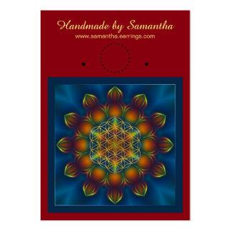 Blomma av liv - Fractalmandalaen kvadrerar III Set Av Breda Visitkort