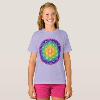 Blomma av livspectrumen tee shirts