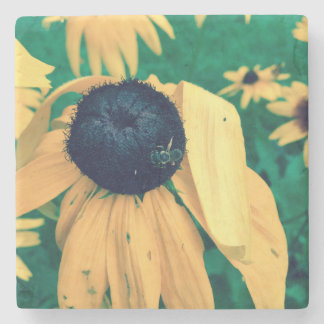 Blomma & bi underlägg sten