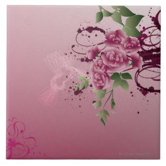 Blomma Bouqet Stor Kakelplatta