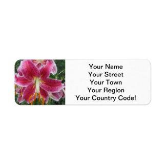 Blomma för liljadagdrömmarelilor returadress etikett