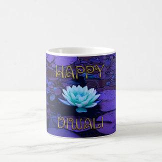 Blomma för lotusblomma för lycklig Diwali Kaffemugg