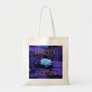 Blomma för lotusblomma för lycklig Diwali Tygkasse