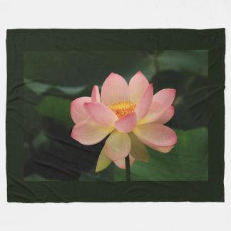 Blomma för lotusblomma för unik Zenträdgård rosa Fleecefilt