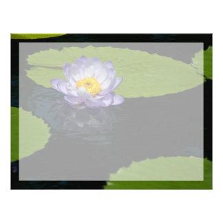 Blomma för näckros för koboltblåttlotusblomma brevhuvud