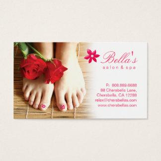 Blomma för Pedicure för nagelsalongSpa Visitkort