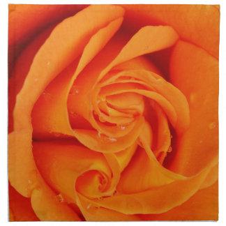 Blomma för ro för trasaservettorange tygservett