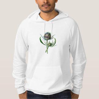 Blomma för vild för skotsk Thistle för vintage Sweatshirt Med Luva