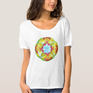 Blomma fredmandalakonst t-shirt