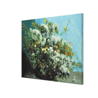 Blomma grenar och blommor, 1855 canvastryck