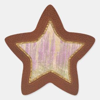 Blomma - jag drömm av lavendel stjärnformat klistermärke