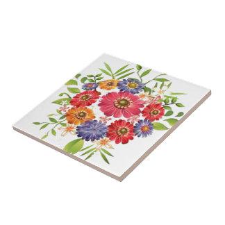 blomma liten kakelplatta