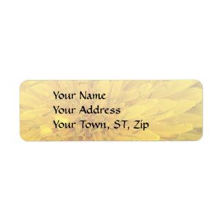 Blomma - maskros returadress etikett