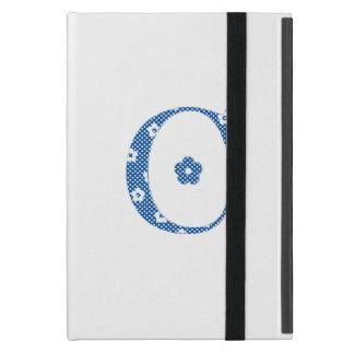 Blomma mönstrat brev C (blått & pricker), iPad Mini Skydd