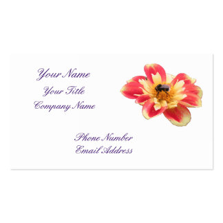 Blomma och bi set av standard visitkort