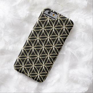 Blomma raster för guld för vit av för liv-/Blume Barely There iPhone 6 Skal