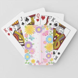 Blomma som leker kort kortlek