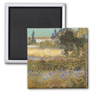 Blomma trädgården av Vincent Van Gogh Magnet