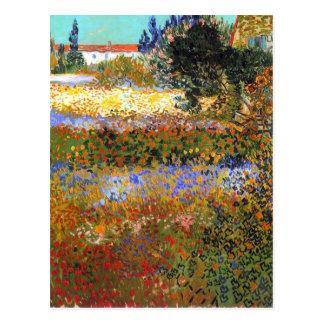 Blomma trädgården av Vincent Van Gogh Vykort