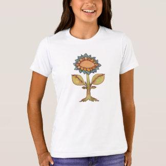Blomma - vattenfärgmålning tee shirt