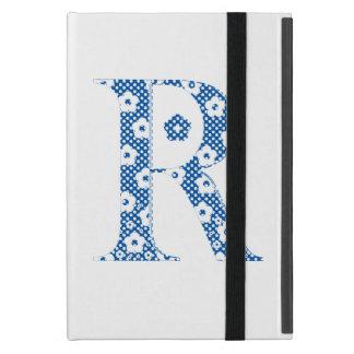 blommaalfabet R (blått och pricker), iPad Mini Skal