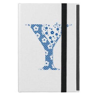 blommaalfabet Y (blått och pricker), iPad Mini Fodral