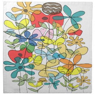 Blommacollage Tygservett