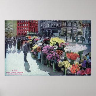 Blommaförsäljare, San Francisco vintage 1926 Poster