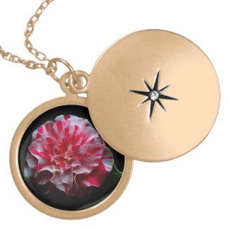 blommahängesmycken guldpläterat halsband