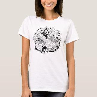 Blommaklotter på skjortan t-shirts