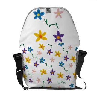 Blommamessenger bag kurir väska