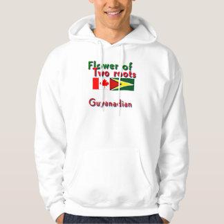 Blomman av två rotar guyanese-kanadensare sweatshirt med luva