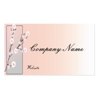 Blomman blommar visitkorten set av standard visitkort