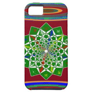 BLOMMAN CHAKRA rullar energi: Smaragdgrönt iPhone 5 Cover