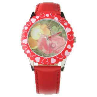 Blomman & den röda hjärtaklockan, men u kan välja armbandsur
