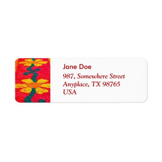 Blomman mattar returadress etikett