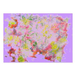 blomman samla i en klunga lilor set av breda visitkort