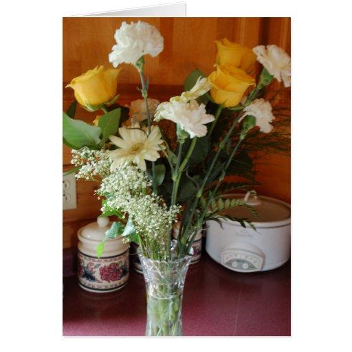 blomman tackar dig att card hälsningskort