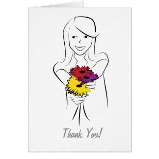Blommanågot att sägatack hälsningskort