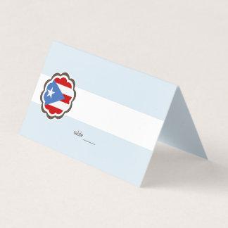 Blommaparty, Puerto Rican flagga Placeringskort