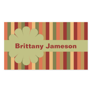 Blommapilbåge, band & randar visitkort