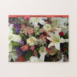 Blommapussel personifierar gåvan för mormornatur pussel