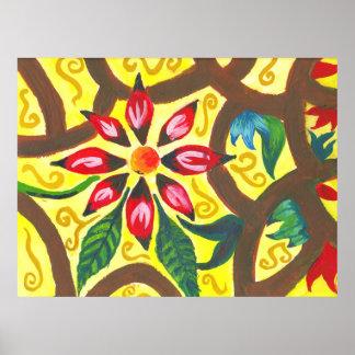 Blommar bland Brambles (1) Poster