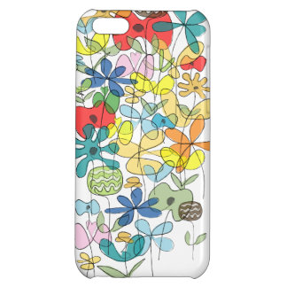 Blommar collageiphone case iPhone 5C mobil fodral