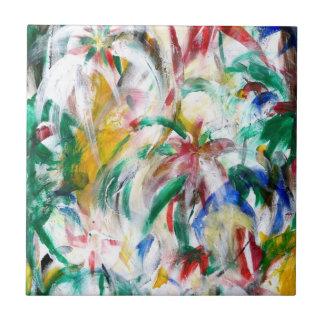 BLOMMAR den abstrakt ~en Kakelplatta