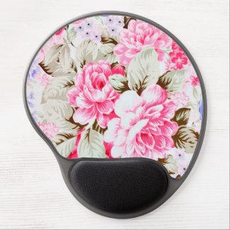 Blommar den chic rosan för vintage blommigt gel musmatta
