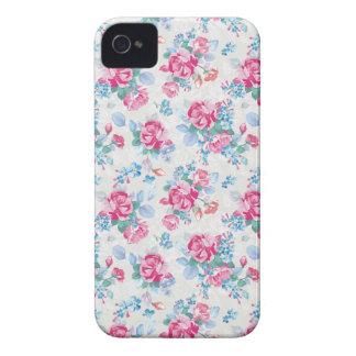 Blommar den eleganta blommönstret för vintagero iPhone 4 cover