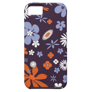 Blommar det blom- purpurfärgade färgrika mobila iPhone 5 Case-Mate cases