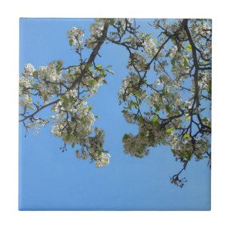 Blommar i himmlen liten kakelplatta
