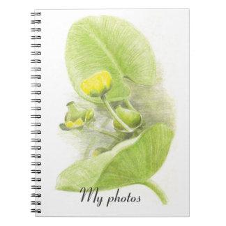 Blommar liljar anteckningsbok